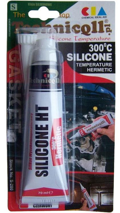 Жидкий герметик Technicqll High Temperature Silicone 300° Temperature Hermetic Red 70ml