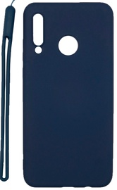 Evelatus Soft Touch Back Case With Strap For Huawei P30 Lite Dark Blue