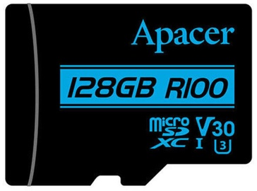 Apacer 128GB microSDXC UHS-I U3 V30 w/Adapter