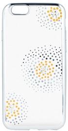 Beeyo Flower Dots Back Case For Samsung Galaxy J5 J530 Transparent/Silver