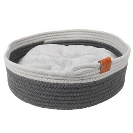 Кровать для животных D&D Home, белый/серый, 350x350 мм
