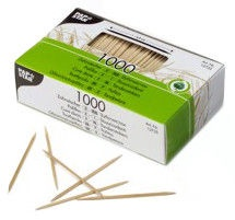 Pap Star Wooden Toothpicks 6.8cm 1000pcs