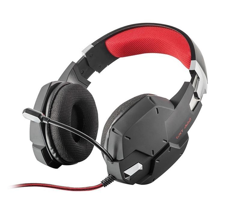 Žaidimų ausinės Trust Dynamic GXT322 Black/Red