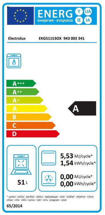 Gaasipliit Electrolux EKG51153OX