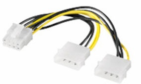 OEM Molex x2 Male To 8pin