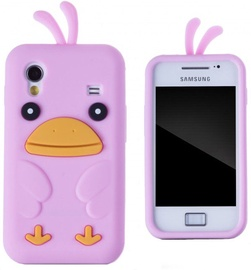 Zooky Soft 3D Case Samsung S5830 Galaxy Ace Chicken Pink