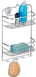 Axentia Cassandra Bathroom Shelf 2-Tier Wide with 4 Hooks