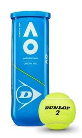 Tennisepall Dunlop Australian Open, kollane, 3 tk