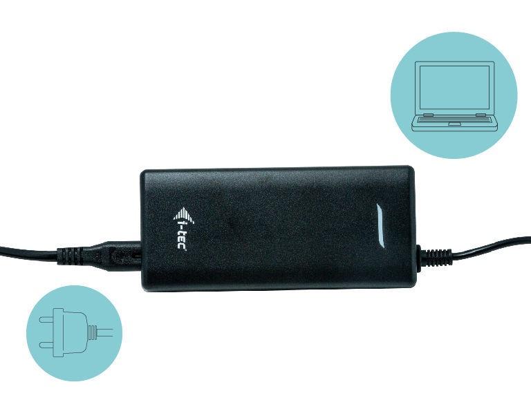 i-Tec Universal Charger USB-C PD 3.0 + USB 3.0 112W