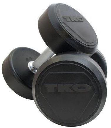TKO Rubber Dumbbells Pro 2x40kg
