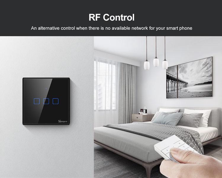 Slēdzis Sonoff Smart Switch T2EU3C-TX