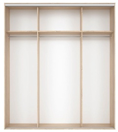 Black Red White Wardrobe Frame Nadir 210 Light San Remo Oak