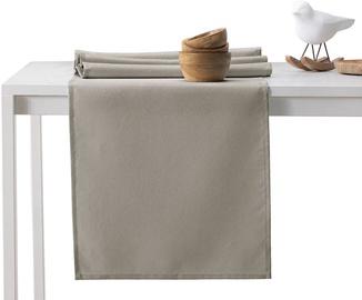 DecoKing Pure HMD Tablecloth Cappuccino Set 115x250/35x250 2pcs