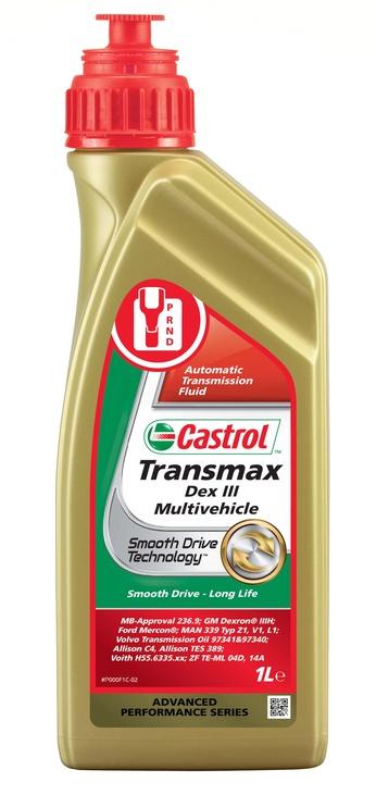 Castrol Transmax Dex III Multivehicle Transmission Fluid 1L