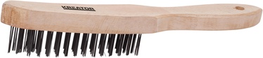 Kreator KRT561002 Wooden Wire Brush 4R - Steel