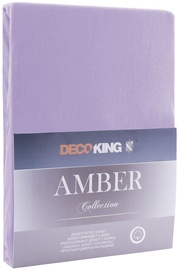 Palags DecoKing Amber Violet, 240x200 cm, ar gumiju