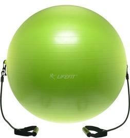 Gimnastikos kamuolys su rankena LIFEFIT, 65 cm, žalia
