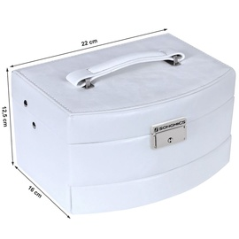 Songmics Jewelry Box White 22x16x12.5cm