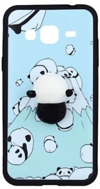Mocco 4D Panda Back Case For Samsung Galaxy A3 A320 Blue