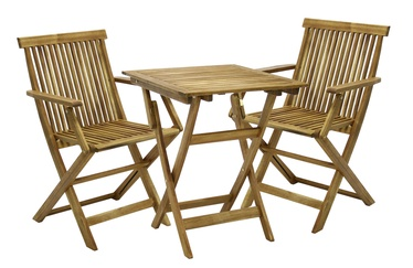 Home4you Finlay Garden Table And 2 Chairs Set Acacia