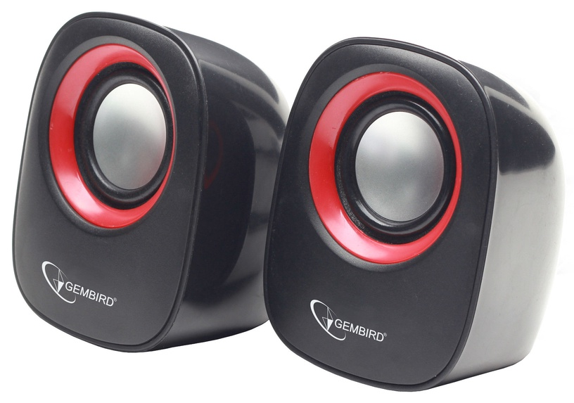 Gembird SPK-107A Stereo speakers Black/Red
