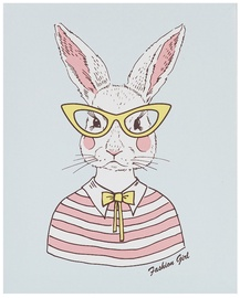 Home4you Picture Smart 20x25cm Rabbit With Glasses