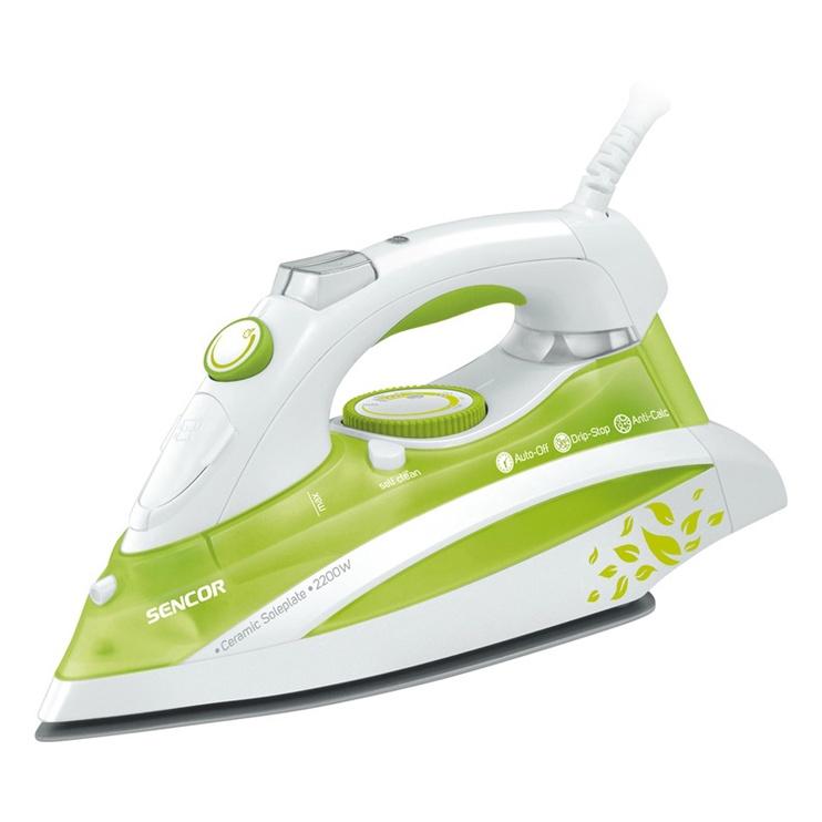 Утюг Sencor SSI8440GR, белый/зеленый