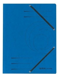 Herlitz 3-Flap File With Elastics A4 Colorspan Blue
