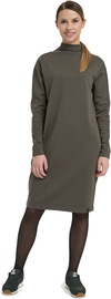 Audimas Merino Long Sleeve Midi Dress Olive Night XL