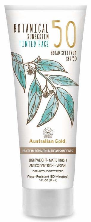 BB sejas krēms Australian Gold Botanical Tinted SPF50 Medium-Tan, 89 ml