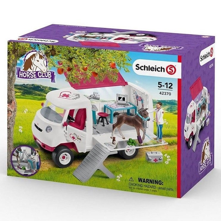 Schleich Mobile Vet With Hanoverian Foal 42370