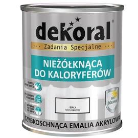 Radiatoru akrila krāsa Dekoral, 0,75l, balta