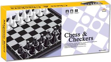 Magnetinė šaškių ir šachmatų lenta QX5480