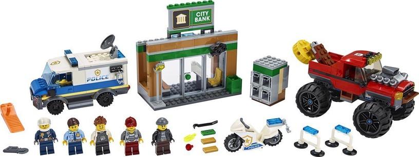 Konstruktorius LEGO® City 60245 Policijos sunkvežimio monstro apiplėšimas