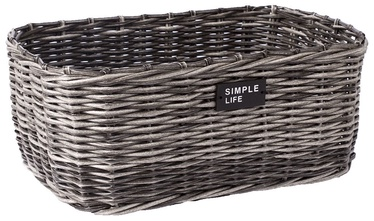 Home4you Basket Ruby-2 39x29x16cm Grey