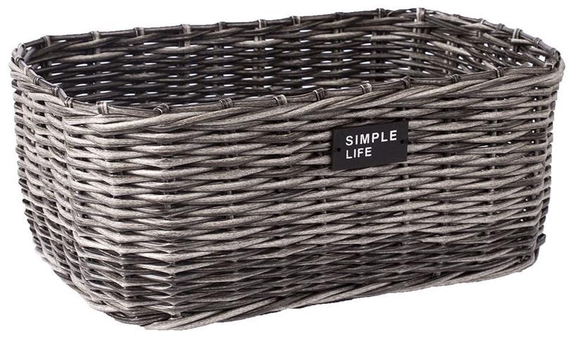 Home4you Basket Ruby-2 39x29x16cm Grey