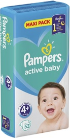 Pampers Active Baby Maxi Pack S4+ 53