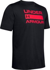 Under Armour Team Issue Wordmark Graphic T-Shirt 1329582-003 Black/Red L