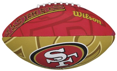 Wilson NFL Team Logo Junior Size Football San Francisco 49Ers
