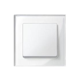 Vienvietis rėmelis Liregus Epsilon, blizgus baltas stiklas