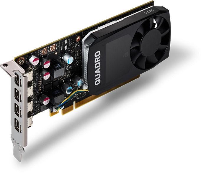 Vaizdo plokštė PNY Quadro P620 VCQP620DVIV2-PB 2 GB GDDR5 Juoda