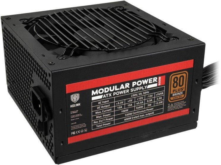 Kolink Modular Power Series PSU 80 Plus Bronze 600W