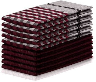 Köögirätik DecoKing Louie, punane, 70 cm x 50 cm, 10 tk