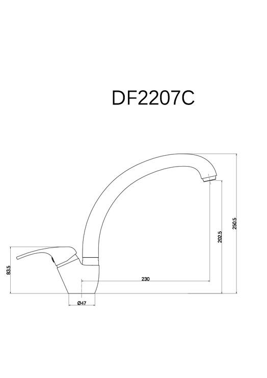 Virtuvinis maišytuvas Thema Lux Eco DF2207C
