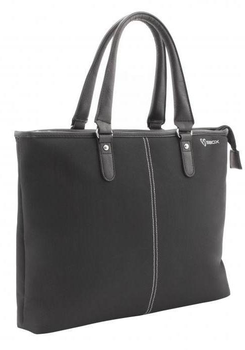 Ручная сумка Sbox, черный, 15.6″