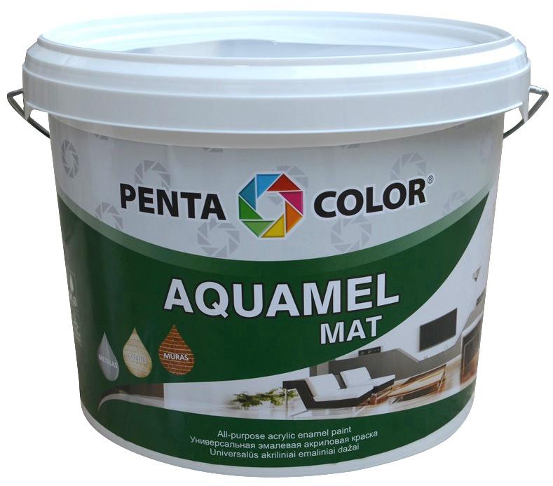Krāsa Pentacolor Aquamel, 3kg, matēta gaiši dzeltena