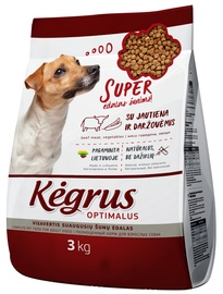Kegrus Optimal Adult Dog Food Beef 3kg