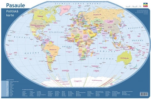 Picture Of A Map Of The World.Jana Seta Desk Pad Political Map World