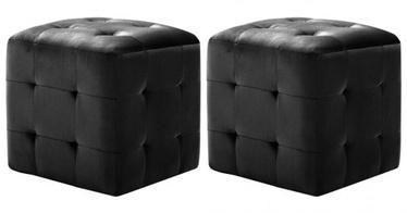 Пуф VLX Black 973722, черный, 30 см x 30 см x 30 см