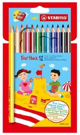 Stabilo Trio Thick Pencils With Sharpener 12pcs